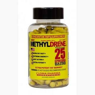 """Cloma Pharma Laboratories MethylDrene 25 - 100 Capsules"" USA"