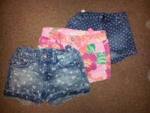 3  lil girl shorts