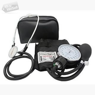Adult Deluxe Aneroid Sphygmomanometer with Stethoscope