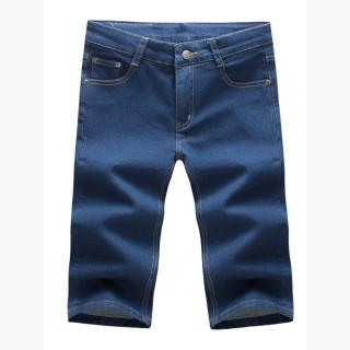 Basic Plain Patch Pocket Men's Midi Jeans