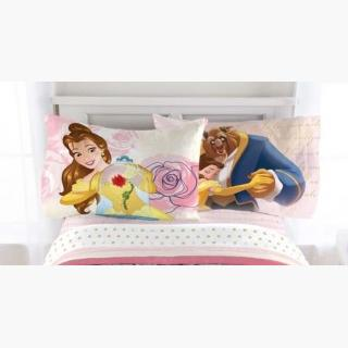 Beauty and the Beast Twin Sheet Set - 3pc Disney Princess Enchanted Belle Bedding Sverige