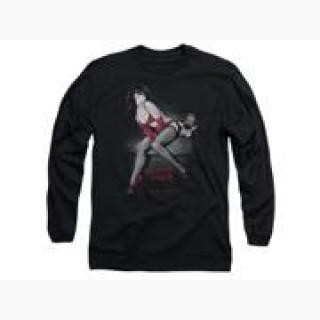 Bettie Page Monkey Business Mens Long Sleeve Shirt