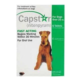 Capstar Green for Dogs 25.1 - 125 lbs 12 TABLET