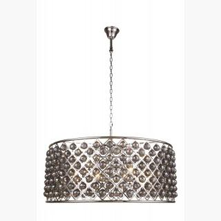 Elegant Lighting 1214 Madison Collection Pendant Lamp D-43.5in H-18.25in Lt-10 Polished Nickel Finis