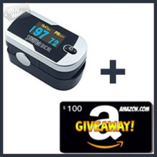 Enter for Free to Win a $100 Amazon Gift Card! & Santamedical Pulse Oximeter