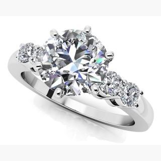 Five Across 6 Prong Engagement Ring USA