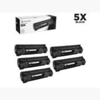LD © Compatible Replacements for Hewlett Packard CE285A (HP 85A) Set of 5 Black Laser Toner Cartrid