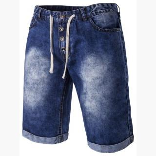Patch Pocket Acid Wash Men's Midi Jeans