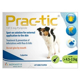 Prac-Tic Spot On for Small Dog: 10-25 lbs (Green) 3 PACK USA
