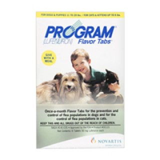 Program Flavour Tabs For Dogs 14.8 - 44lbs (Brown) 6 TABLET