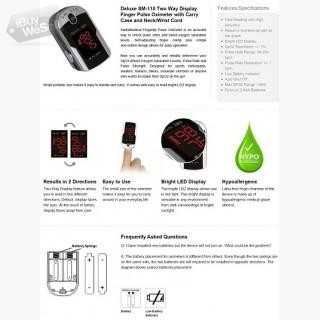 Sm-110 Two Way Display Finger Pulse Oximeter on sale