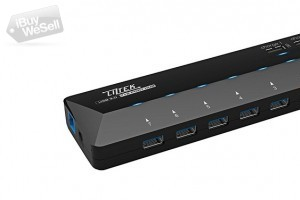 USB 3.0 7 Port HUb with 2 Smart Charging Ports