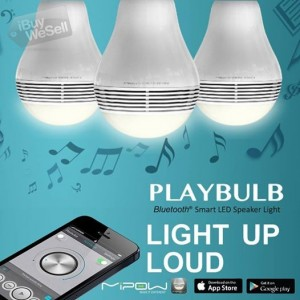 Wireless Bluetooth 4.0 Smart LED Light Bulb Speaker for Apple iPhone iPad Android‏
