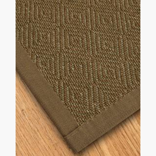 """Habitat"" Sisal Rug, Fossil Cotton Border, Eco-Friendly, 4' x 6'"