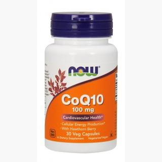 """Now CoQ10 100 mg w/Hawthorn Berry - 90 V-Capsules"""