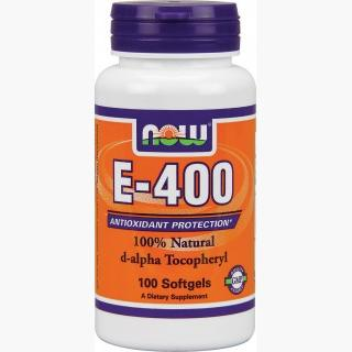 """Now E 400 100% D-Alpha Tocopheryl - 100 Gels"""