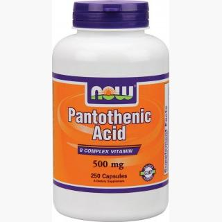 """Now Pantothenic Acid - 250 Capsules"""