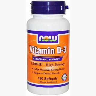 """Now Vitamin D-3 1000 IU - 180 Softgels"""