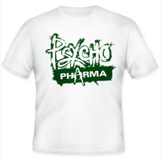 """Psycho Pharma T-Shirt - Large - Black With Red Logo"""