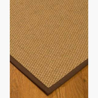 """Rio"" Sisal Rug, Sage/Khaki Cotton Border, Eco-Friendly, 8' x 10'"