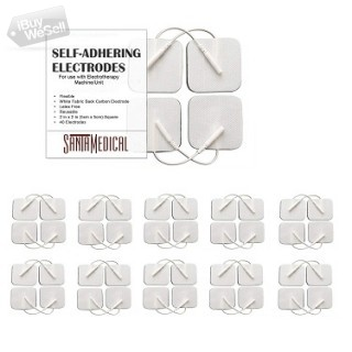 """TENS Unit Pads Electrodes 2x2 40 Pcs Replacement Reusable Premium Pads Electrode Patches for Electr"