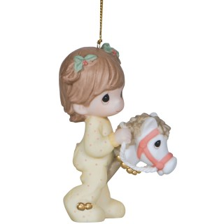 'Jingle All The Way' Bisque Porcelain Ornaments USA