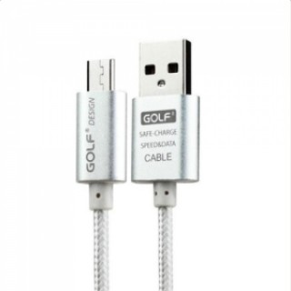 0.25M GOLF USB Data Sync Charging Cable Wire for Android Phone Silver