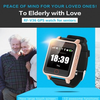 1.54 Inch Smart GPS Watch Sport Heart Rate Barometer Monitor Smartwatch for The Aged