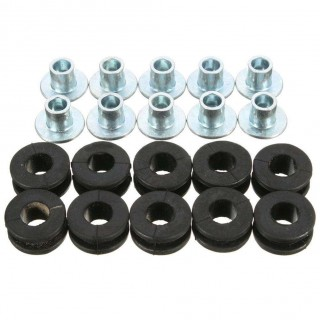 10pcs Motorcycle Rubber Grommets Bolt Kit for Honda Yamaha Suzuki Fairings