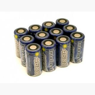 12pcs Intellect Sub C 4600mAh NiMH Flat Top Rechargeable Batteries (Clearance)