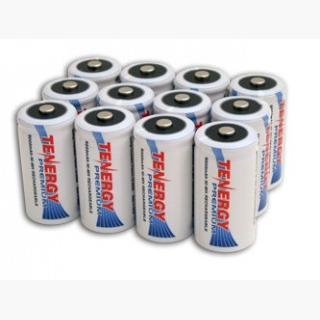 12pcs Tenergy Premium C 5000mAh NiMH Rechargeable Batteries