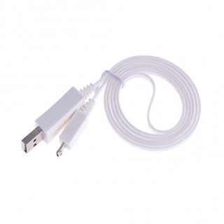 1m Luminous LED Data Charging Cable for Android USB Charging Cable(White)