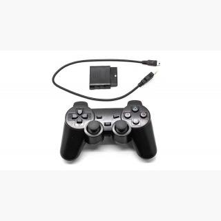 2.4GHz Wireless Dual Shock Gaming Controller for PS3 / PS3 Slim / PS2 / PC