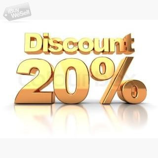 20% Discount Coupon Code for New User Welcome Offer