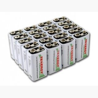 20pcs Tenergy Centura NiMH 9V 200mAh Low Self Discharge Rechargeable Batteries