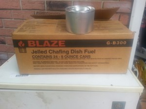 24 cans of jelled chafing dish fuel