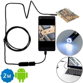 2M 6 LED 7mm Lens IP67 USB Endoscope f Android Smartphone and PC