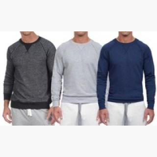 2Xist Men's French-Terry Crew-Neck Pullover Sweatshirt