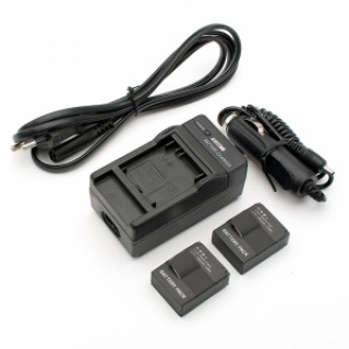 2pcs Batteries + Smart Charger + Car Charger for GoPro Hero 3/3