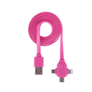 3 in 1 Type-c Charging Cable for Apple Android Adapter Charger Data Cable
