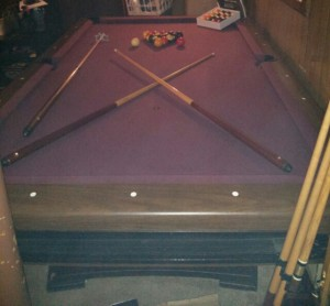 3 slate pool table