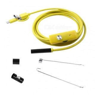 3-in-1 7mm USB Endoscope Waterproof Inspection Camera for Android Phone - 300cm USA