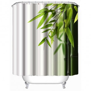 3D Shower Curtains Waterproof Stone Plants Design Bathing Curtains for Bathroom Home Decor Bathroom