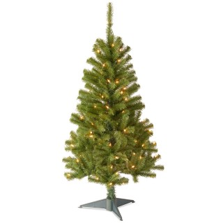 4 foot Canadian Fir Wrapped Christmas Tree: 100 Clear Lights UK