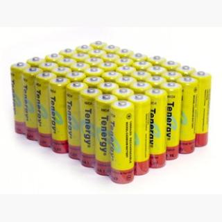 48pcs Tenergy AA 1000mAh NiCd Button Top Rechargeable Batteries