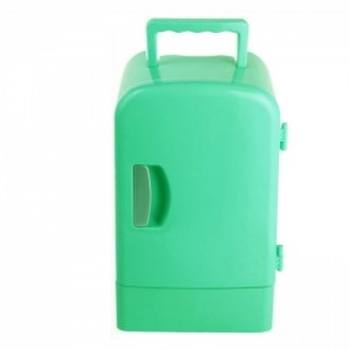 4L Portable Mini Car Auto Home Camping Fridge Electric Cool Box Cooler and Warmer Green
