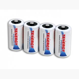 4pcs Tenergy Premium D 10000mAh NiMH Rechargeable Batteries