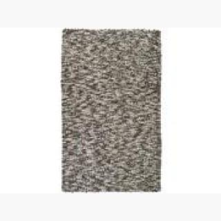 5' x 8' Gray, Silver & White Speckled Hand Woven New Zealand Wool Area Throw Rug