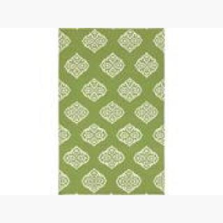 5' x 8' Stylish Serenity Lime Green and Ivory Reversible Hand Woven Wool Area Throw Rug