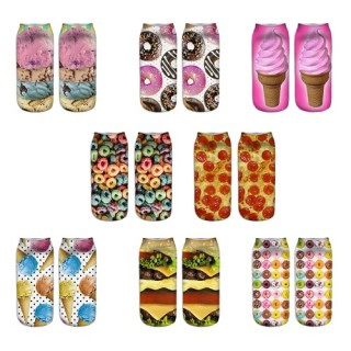 5 Pairs Girls Womens Cool Fun Crazy Cute Fashion Design Colorful Casual Crew Socks Sweet Low Cut Ank